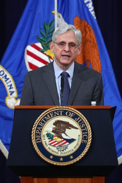 U.S. Attorney General Merrick Garland will meet with news executives Monday regarding Trump administration seizing communication records from them in leak probe. Photo by Tom Brenner/UPI