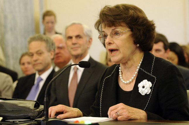 Sen. Dianne Feinstein, D-CA, who was one of the Senators to announce an end to a 45-cent-per-gallon tax credit for ethanol. UPI/Roger L. Wollenberg