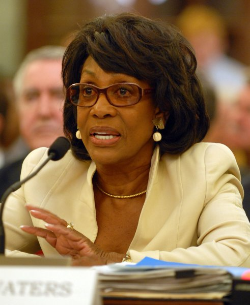 Rep. Maxine Waters, D-CA, testifies about the NFL retirement and disability program before the Senate Committee on Commerce, Science and Transportation on Capitol Hill in Washington on September 18, 2007. (UPI File Photo/Roger L. Wollenberg)