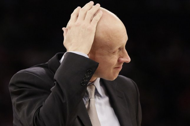 I told them out in the real world, life is going to hand you lemons, and you can pout about it and figure out how to make lemonade, Xavier coach Chris Mack said of his message to his players. File Photo by John Angelillo/UPI