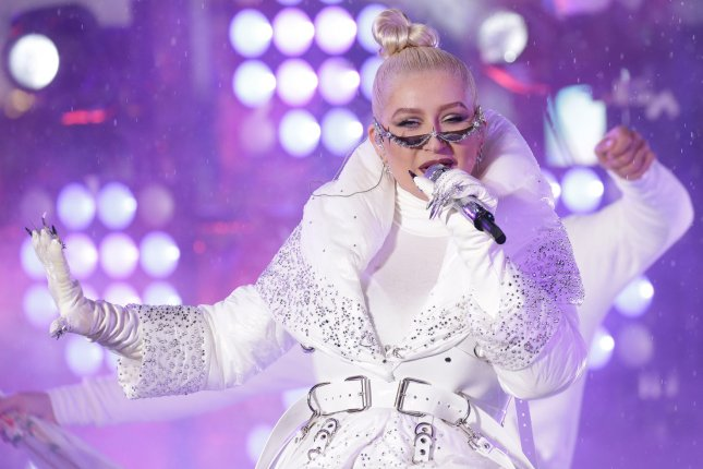 Christina Aguilera will debut The Xperience show May 31 in Las Vegas. File Photo by John Angelillo/UPI
