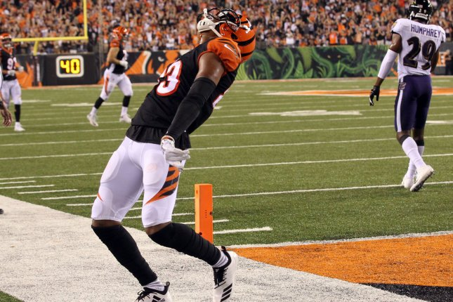 Cincinnati Bengals wide receiver Tyler Boyd has two games this season with at least 10 receptions and 100 receiving yards. File Photo by John Sommers II/UPI