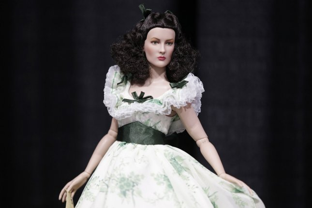 A North Korean mobile app includes criticism of the bourgeois characters of the novel Gone With The Wind, including Scarlett O'Hara, depicted here as a doll, according to a South Korean news service on Monday. File Photo by John Angelillo/UPI