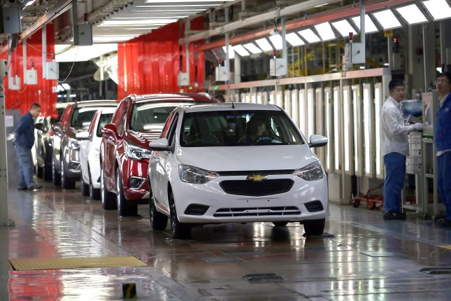 Globally, auto sales are expected to drop by 12 percent in 2020 compared to 2019. File Photo by Stephen Shaver/UPI