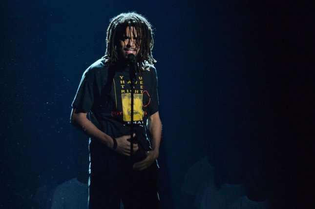 J. Cole confirmed he is a father in an essay about his two passions: basketball and rap. File Photo by Jim Ruymen/UPI