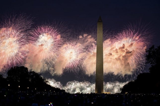 The Republican National Committee has requested a permit for fireworks to explode over the National Mall in Washington, D.C. after President Donald Trump's speech accepting the party's nomination for re-election. File Photo by Anna Moneymaker/UPI