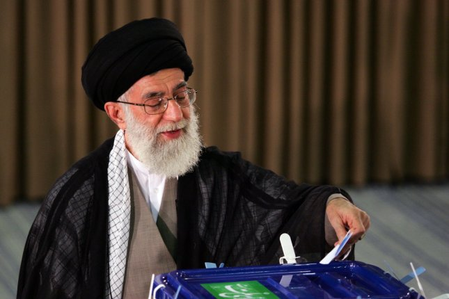 Iran's supreme leader Ayatollah Ali Khamenei casts his vote for presidential election in Tehran, Iran on June 12, 2009. UPI/Hossein Fatemi