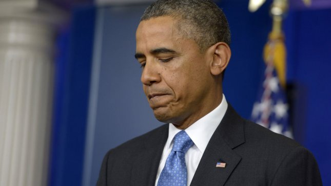 U.S. President Barack Obama delivers remarks on the Trayvon Martin case during a surprise visit to the press briefing room at the White House in Washington, DC on July 19, 2013. The president noted Trayvon Martin could have been me 35 years ago. UPI/Shawn Thew/Pool