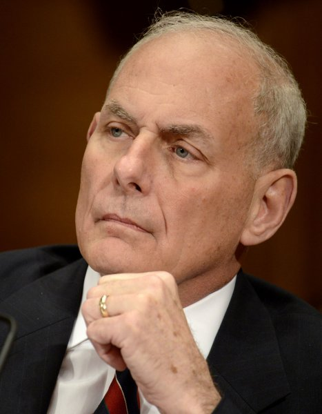 Homeland Security Secretary John Kelly listens to opening statements before a Senate Appropriations Subcommittee on May 25 in Washington, D.C. Photo by Mike Theiler/UPI