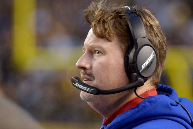 New York Giants coach Ben McAdoo watches from the sidelines during a game against the Pittsburgh Steelers last season. Photo by Archie Carpenter/UPI