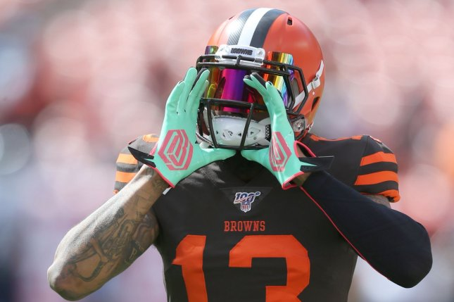 Cleveland Browns wide receiver Odell Beckham Jr. had six catches for 161 yards and a touchdown in a win against the New York Jets Monday in East Rutherford, N.J. Photo by Aaron Josefczyk/UPI