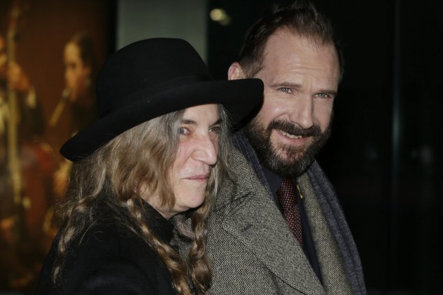 Ralph Fiennes and Patti Smith arrive at the premiere of 'The Grand Budapest Hotel' at Alice Tully Hall in New York City on February 26, 2014. UPI/John Angelillo