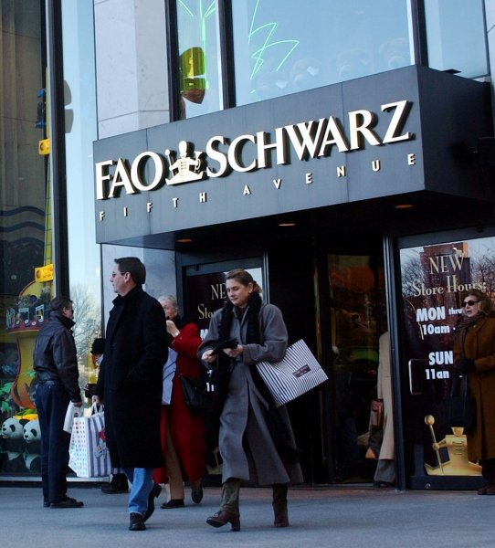 FAO Schwarz announced Friday it is closing its flagship Fifth Avenue location due to rising rent costs. File photo by Ezio Petersen/UPI
