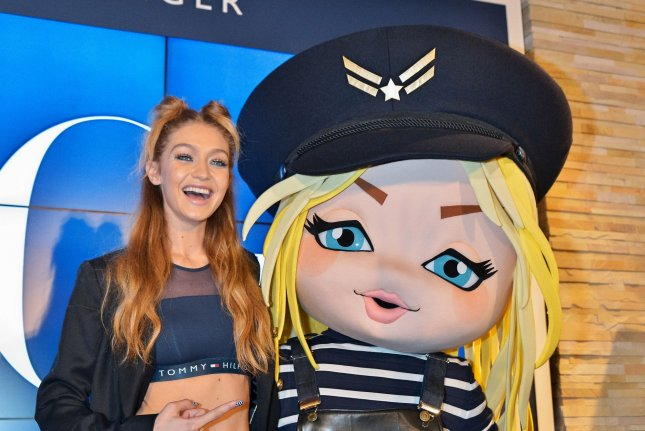 Gigi Hadid launches her Tommy x Gigi collection in Tokyo on October 12. File photo by Keizo Mori/UPI