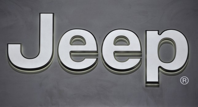 The Jeep logo is seen at the company's display during the Chicago Auto Show at McCormick Place in Chicago, Feb. 9, 2012. UPI/Brian Kersey
