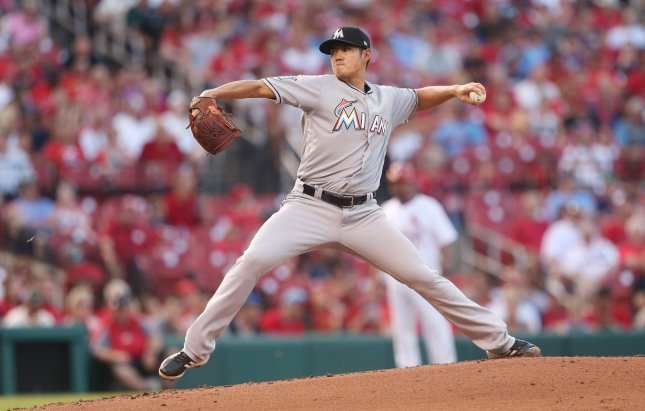 8d46f5cb0 Wei-Yin Chen and the Miami Marlins face the Atlanta Braves on Tuesday.  Photo by Bill Greenblatt UPI