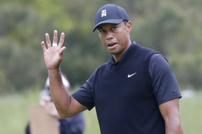 Tiger Woods is looking to win the Memorial Tournament for a sixth time this weekend in Dublin, Ohio. Photo by John Angelillo/UPI