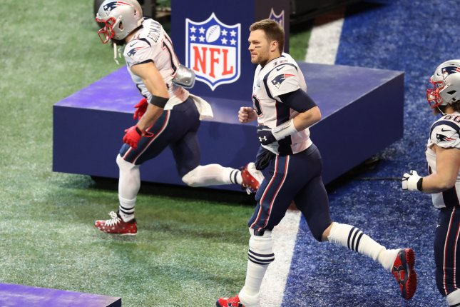 New England Patriots quarterback Tom Brady (C) listed his Massachusetts home on the market last week. File Photo by Will Newton/UPI