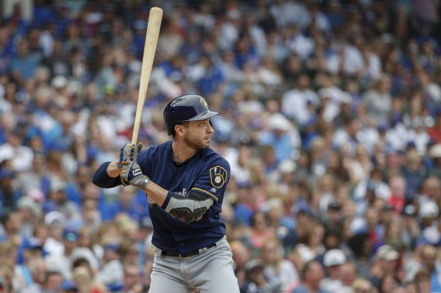 Milwaukee Brewers left fielder Ryan Braun is hitting .284 with 22 home runs and 74 RBIs this season after going 1 for 2 Wednesday in Cincinnati. Photo by Kamil Krzaczynski/UPI