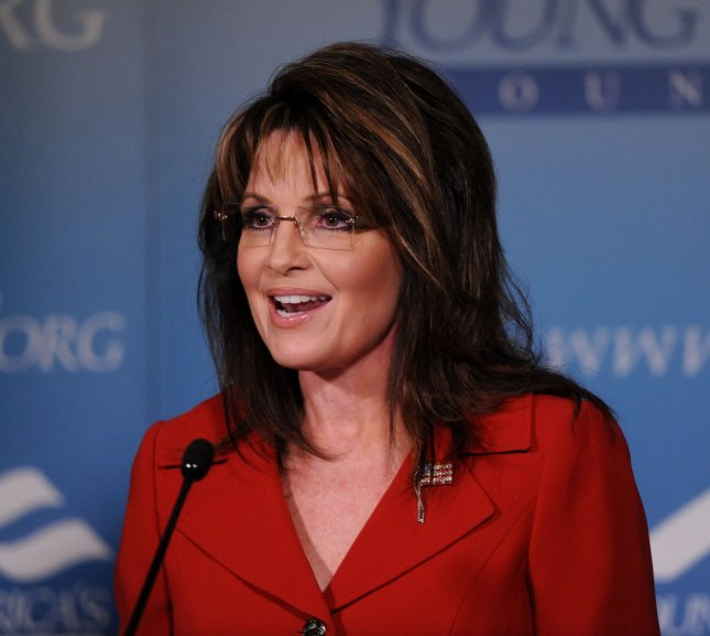 Former Alaska governor Sarah Palin, who has spoken out against Romneycare. UPI/Jim Ruymen