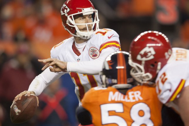 Denver Broncos linebacker Von Miller pressures Kansas City Chiefs quarterback Alex Smith on November 17, 2013 in Denver. The two 7-3 AFC West rivals face off for the 112th time on Sunday, 8:30 p.m. ET, at Mile High, Denver.