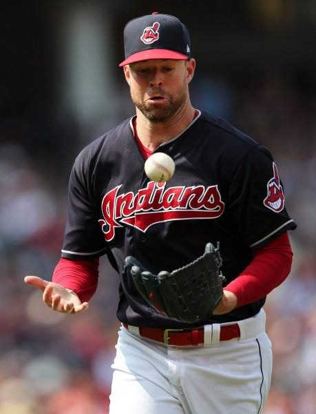 Corey Kluber and the Cleveland Indians are scheduled to host the Toronto Blue Jays on Sunday, but the weather may not cooperate. Photo by Aaron Josefczyk/UPI