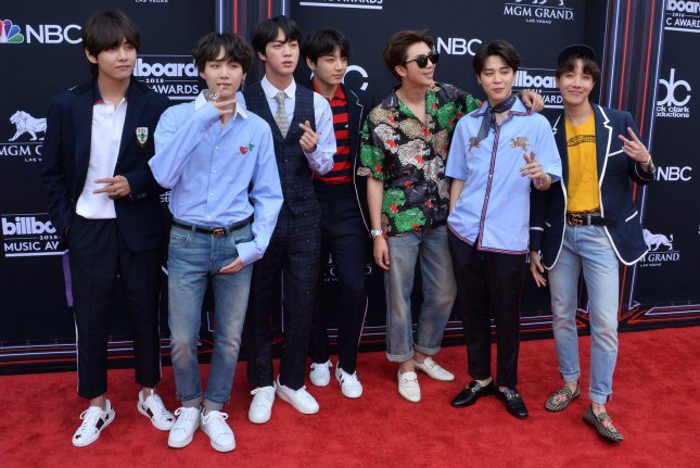 BTS will perform on the Oct. 12 episode of The Graham Norton Show. File Photo by Jim Ruymen/UPI