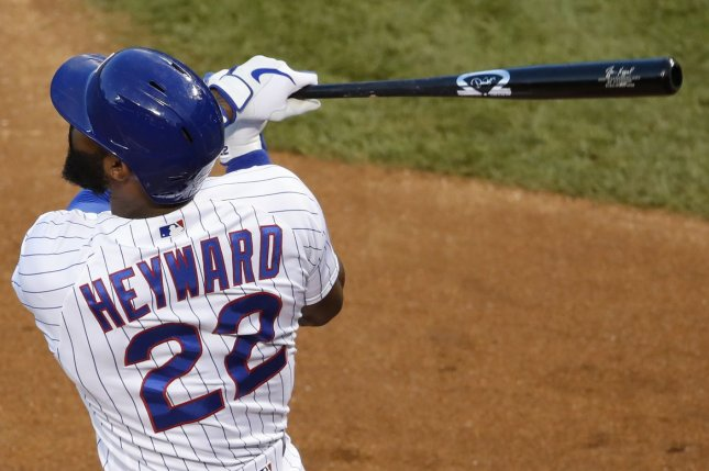 Jason Heyward, Jason Kipnis and Willson Contreras each homered to help the Chicago Cubs beat the Kansas City Royals Tuesday in Chicago. Photo by Kamil Krzaczynski/UPI