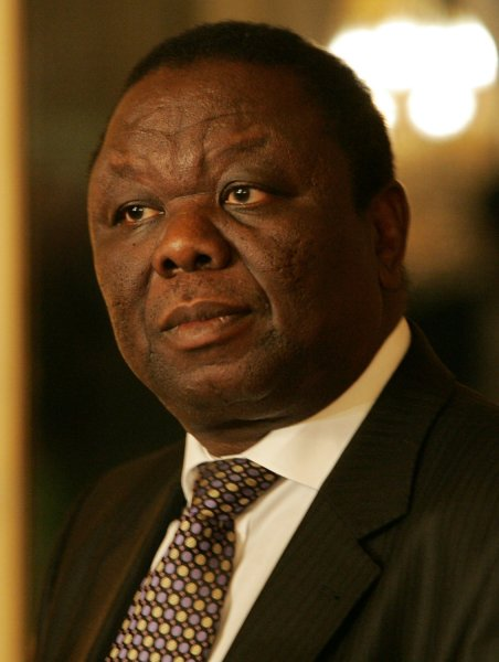 Zimbabwe opposition leader Morgan Tsvangirai gives a press conference at the Quai d'Orsay in Paris, November 18, 2008. Tsvangirai warned President Robert Mugabe today not to form a government without him, vowing to use his majority in parliament to render such a regime unworkable. (UPI Photo/Eco Clement)