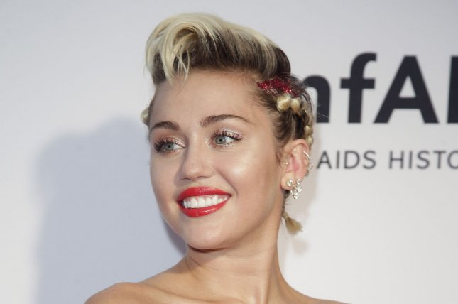 Miley Cyrus at the amfAR Inspiration Gala on June 16. The singer recently revealed she's pansexual to Elle U.K. File photo by John Angelillo/UPI