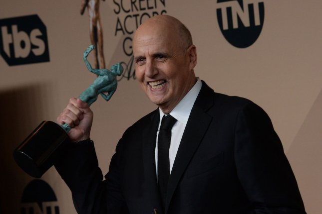 Actor Jeffrey Tambor, winner of Outstanding Performance By a Male in a Comedy Series for Transparent, appears backstage during the 22nd annual Screen Actors Guild Awards in Los Angeles on January 30, 2016. File Photo by Jim Ruymen/UPI