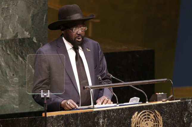 South Sudan Salva Kiir, speaking at the United Nations General Assembly in New York City in 2014, has replaced his former rival and vice president with a new second in command. File photo by John Angelilo/UPI