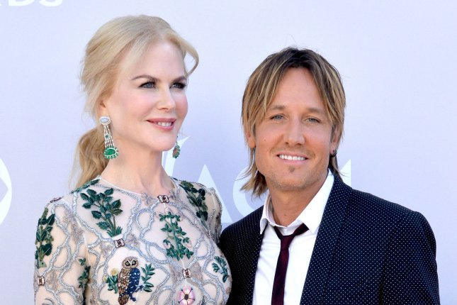 Keith Urban (R) and Nicole Kidman attend the Academy of Country Music Awards on Sunday. Photo by Jim Ruymen/UPI