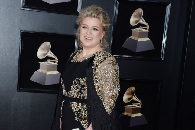 Kelly Clarkson went day drinking Thursday with Seth Meyers on Late Night. File Photo by Dennis Van Tine/UPI