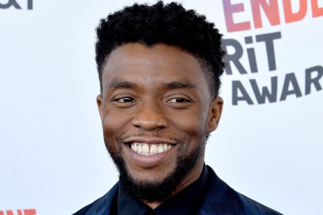 Chadwick Boseman is locked out of the stage door in a new promo for Saturday Night Live. File Photo by Jim Ruymen/UPI