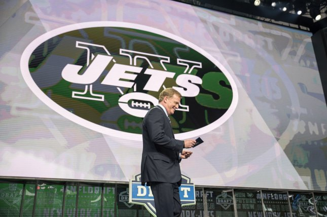 NFL Commissioner Roger Goodell is booed as he takes the stage to announce the New York Jets pick during the 2018 NFL Draft on April 26 at AT&T Stadium in Arlington, Texas. Photo by Sergio Flores/UPI