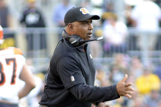 Head coach Marvin Lewis and the Cincinnati Bengals are looking to return to the postseason for the first time since 2015. Photo by Archie Carpenter/UPI