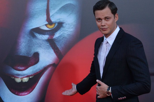 Bill Skarsgard attends the premiere of the horror film It Chapter Two in Los Angeles on Tuesday, Aug. 26. A Utah company is offering $1,300 to a selected person willing to watch 13 horror films based on the works of Stephen King before Halloween. Photo by Jim Ruymen/UPI