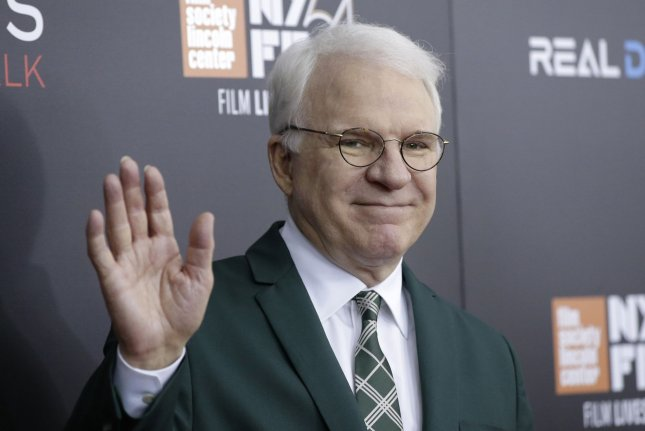 Steve Martin arrives on the red carpet at a screening of Billy Lynn's Long Halftime Walk at AMC Loews Lincoln Square 13 Theater on October 14, 2016, in New York City. The actor turns 75 on August 14. File Photo by John Angelillo/UPI