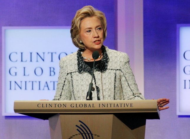 Former Secretary of State Hillary Clinton speaks at the 2013 Clinton Global Initiative Annual Meeting held at the Sheraton Hotel on September 25, 2013 in New York City. The annual event brings together global leaders who work on strategies to solve global problems such as poverty and social injustices. UPI/Monika Graff