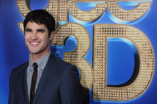 Darren Criss attends the Los Angeles premiere of Glee: The 3D Concert Movie on August 6, 2011. The actor shared a nude selfie Tuesday while filming American Crime Story: Versace. File Photo by Jim Ruymen/UPI