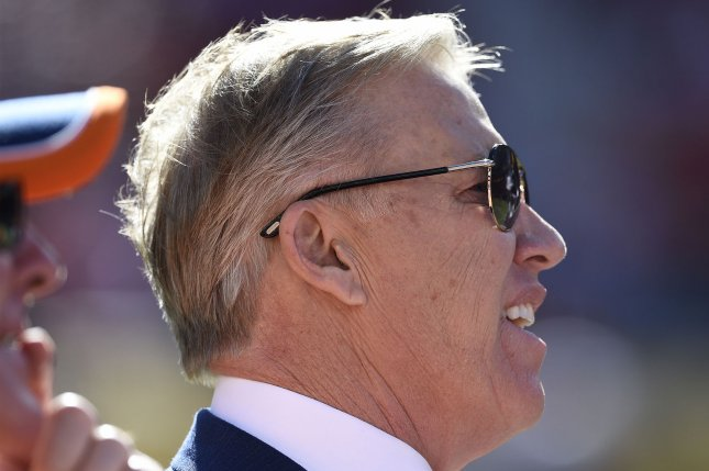Denver Broncos executive John Elway was given a five-year contract extension Monday. File photo by Brian Kersey/UPI