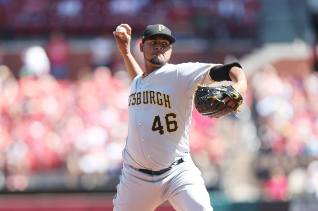 Ivan Nova and the Pittsburgh Pirates take on the Cincinnati Reds on Thursday. Photo by Bill Greenblatt/UPI