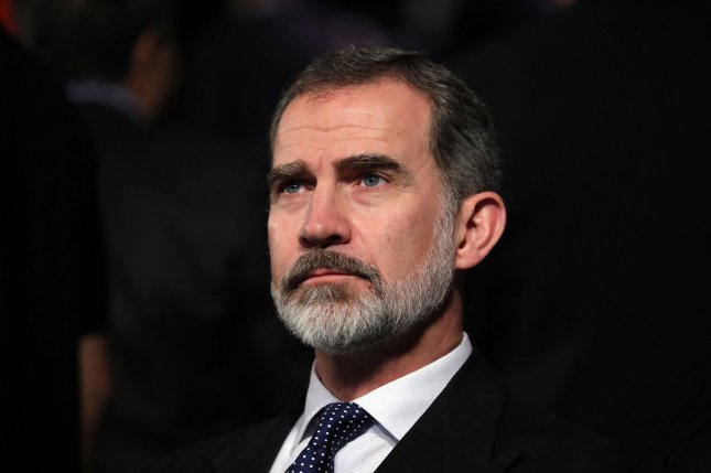 King Felipe of Spain participates in the Fifth World Holocaust Forum at the Yad Vashem Holocaust memorial museum in Jerusalem, Israel, on January 23. File Photo by Abir Sultan/UPI/Pool
