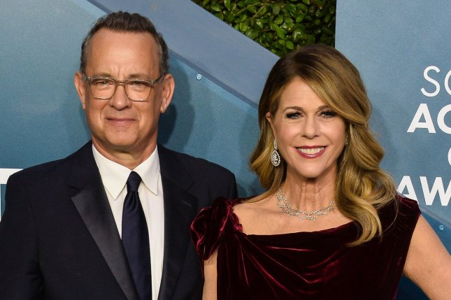 Tom Hanks (R) and his wife Rita Wilson arrive for the 26th annual SAG Awards on January 19. Hanks recently described the experience he and Wilson had with COVID-19. File Photo by Jim Ruymen/UPI