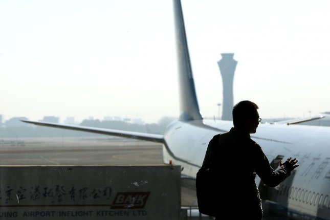 A Boeing jetliner is seen parked at a gate atBeijing Capital International Airport in Beijing, China, on April 10, 2019. File Photo by Stephen Shaver/UPI