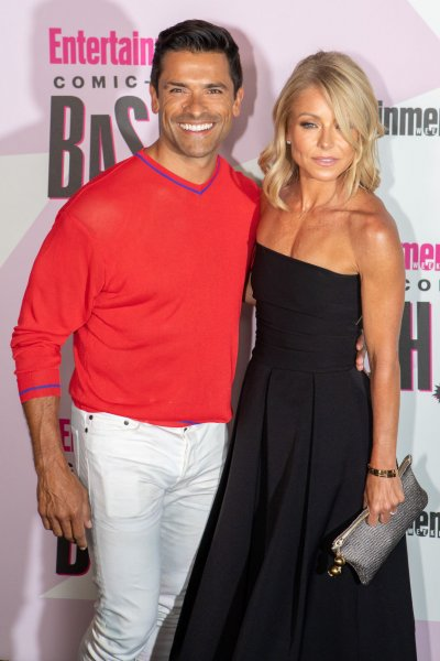 Mark Consuelos (L) and his wife Kelly Ripa are producing two true-crime movies for Lifetime. File Photo by Howard Shen/UPI