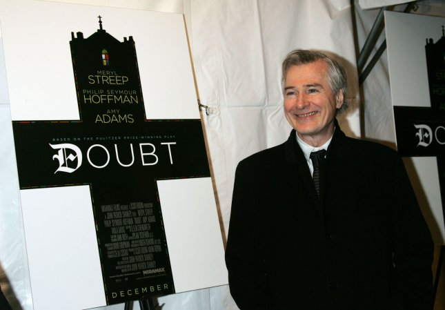 John Patrick Shanley arrives for the premiere of Doubt at the Paris Theater in New York on December 7, 2008. (UPI Photo/Laura Cavanaugh)