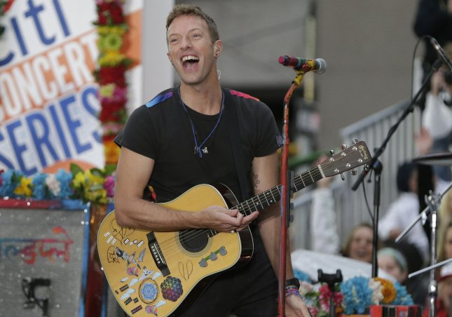 Chris Martin and Coldplay perform on NBC's Today at Rockefeller Center in New York City on March 14, 2016. Photo by John Angelillo/UPI