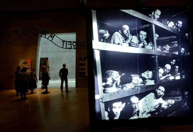 The Yad Vashem Holocaust Museum in Jerusalem pays tribute to those lost at Auschwitz and other Nazi death camps during World War II. A former Auschwitz guard, Reinhold Hanning, 94, was convicted Friday of in Germany of accesory to the muder of 170,000 people. File Photo by Debbie Hill/UPI
